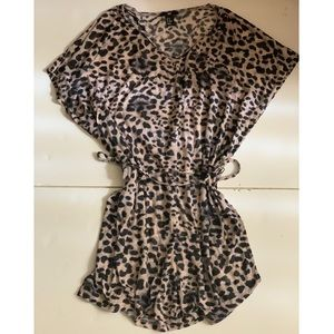 Leopard 🐆 swim cover-up with belt
